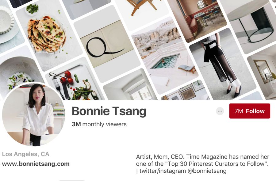 Bonnie Tsang pinterest influencer