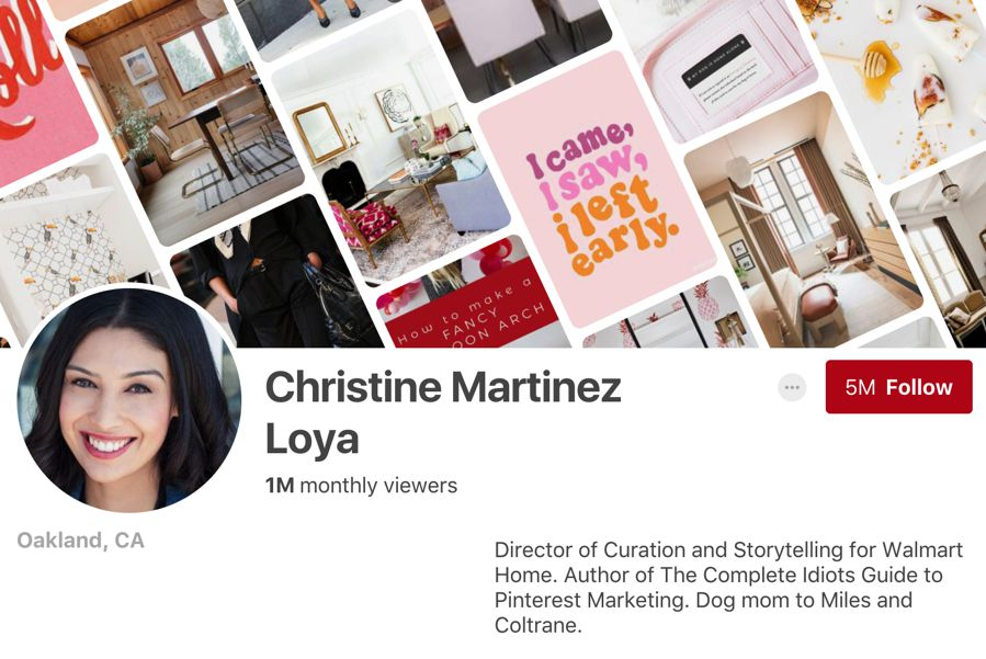 Christine Martinez Loya pinterest influencer