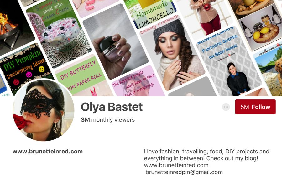 Olya Bastet pinterest influencer