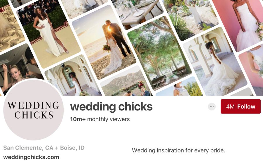 wedding chicks pinterest influencer