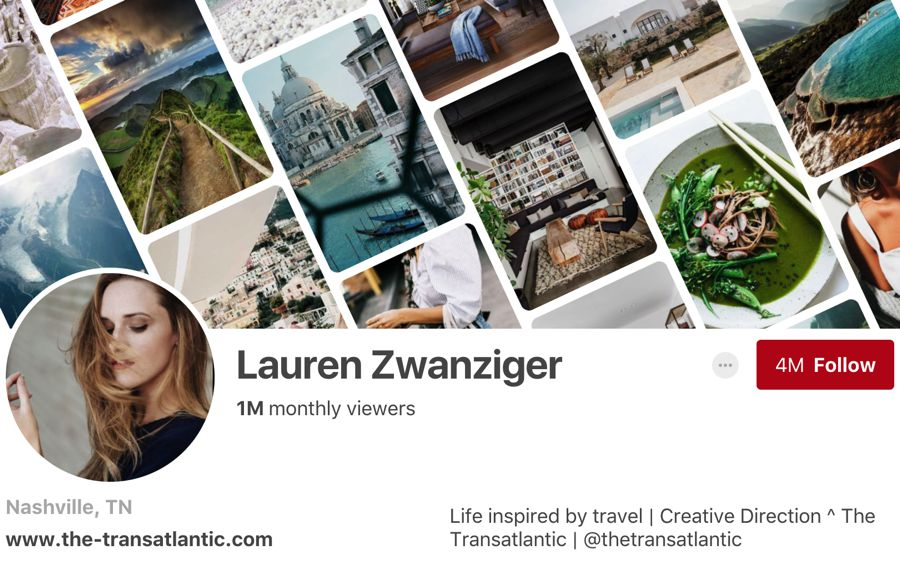Lauren Zwanziger pinterest influencer