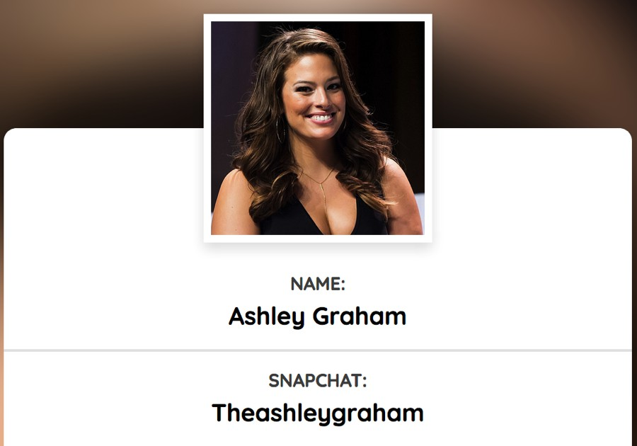 Ashley Graham (@theashleygraham) snapchat influencer