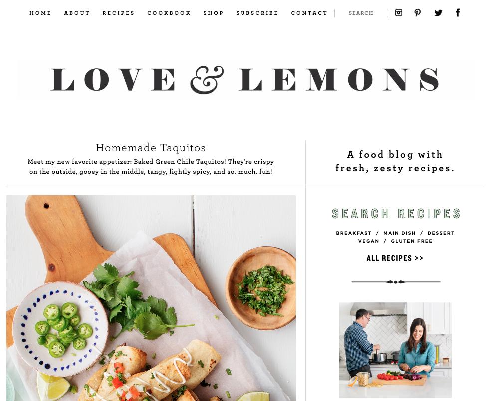 love and lemons food blog