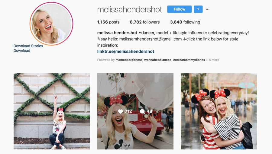 melissa hendershot instagram influencer
