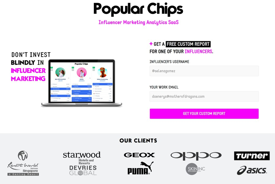 popular chips influencer marketing platform