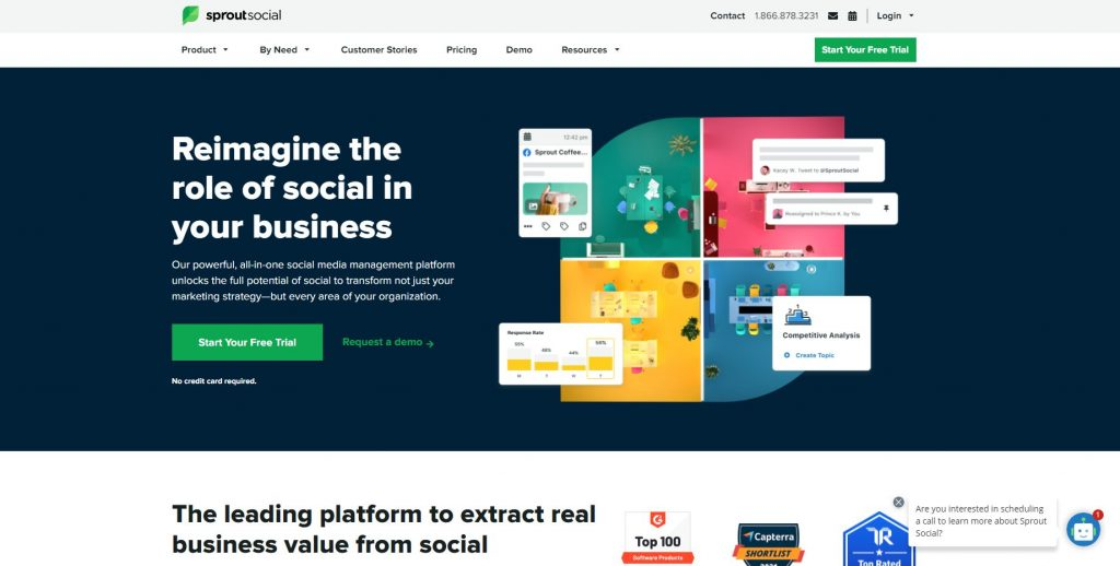 social scheduling platform by sproutsocial