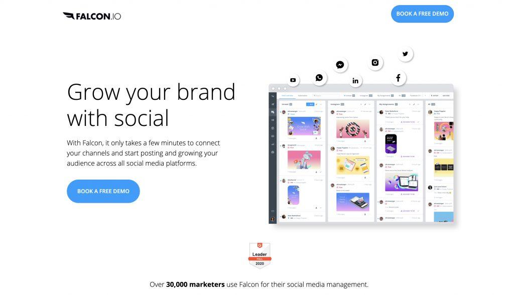 social media scheduler by Falcon.io