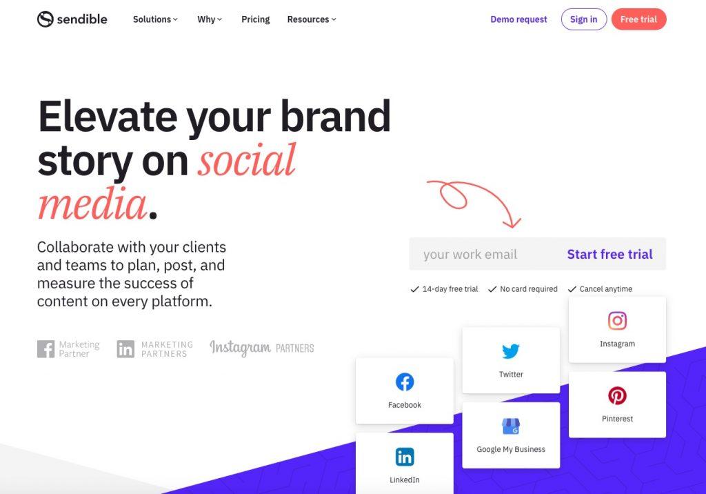 social media scheduling tools - sendible