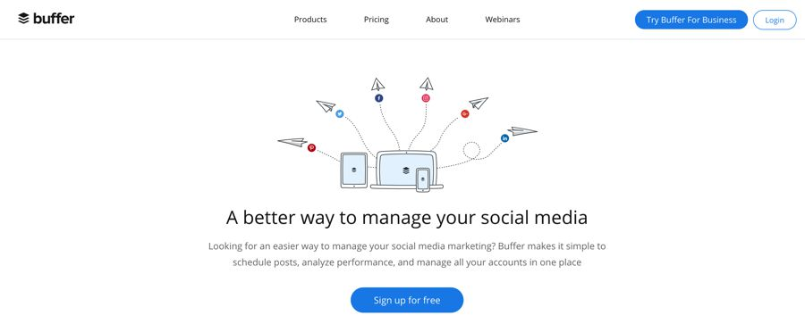 buffer social media management