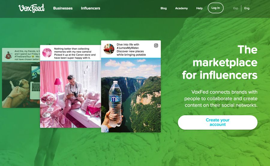 voxfeed interactive influencer marketing agency