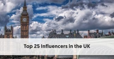 Top 25 Influencers in the UK