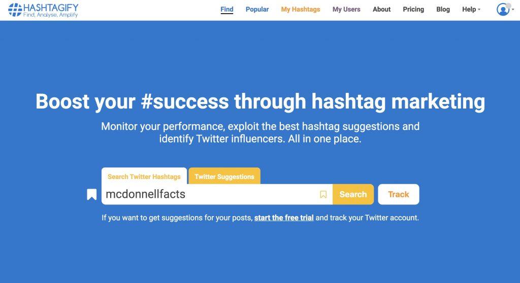 hashtag tracker