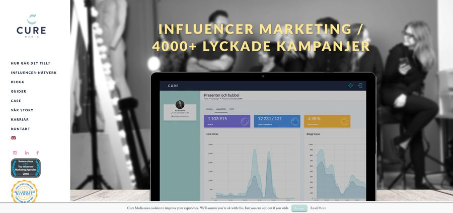 Influencer Marketing Network - Sociala medier I Cure Media