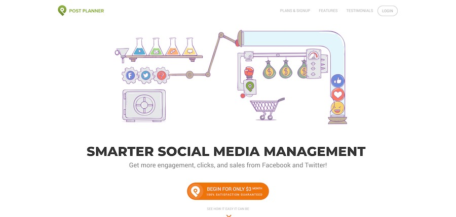 Post Planner Social Media Engagement App