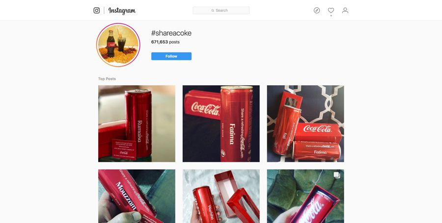 Image result for Instagram branded hashtags-coke