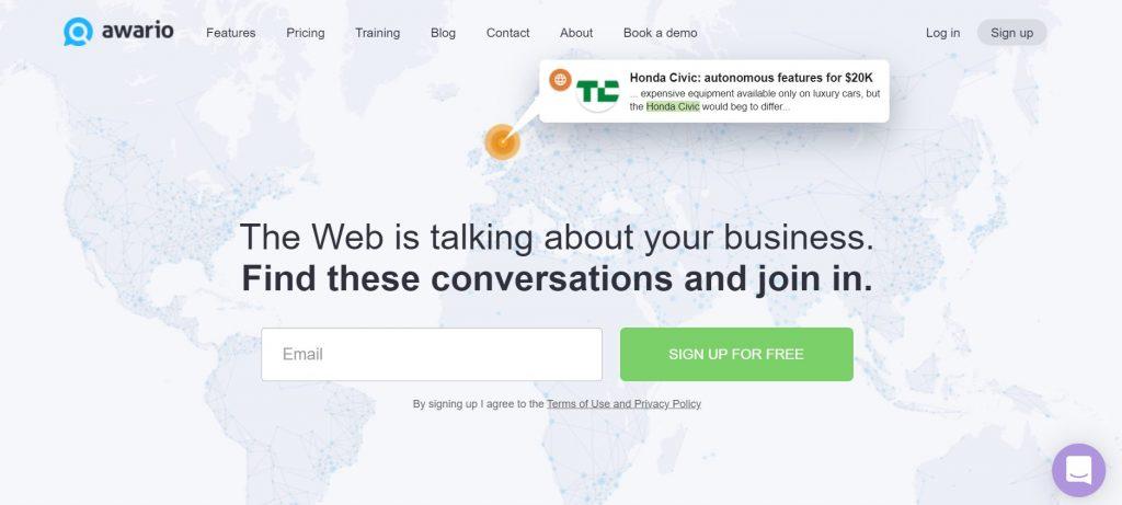 Brand monitoring tool Awario to analyze all brand mention