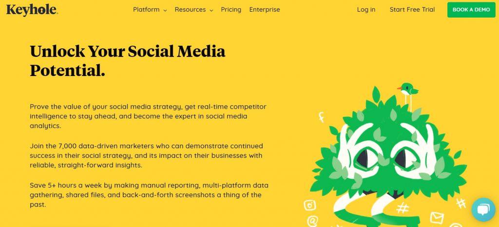 Keyhole social listening influencer marketing platform