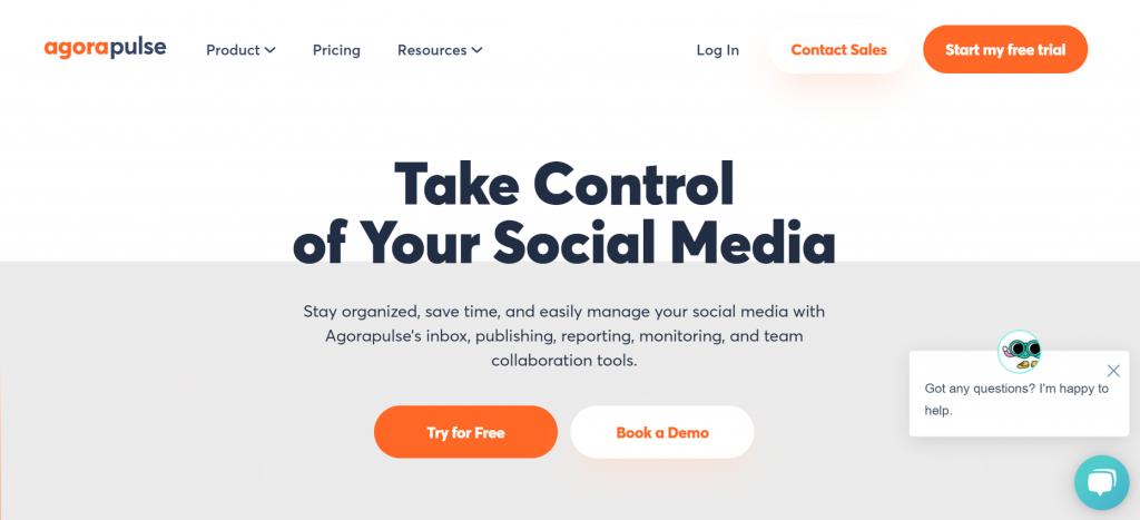 social media monitoring software - Agora Pulse