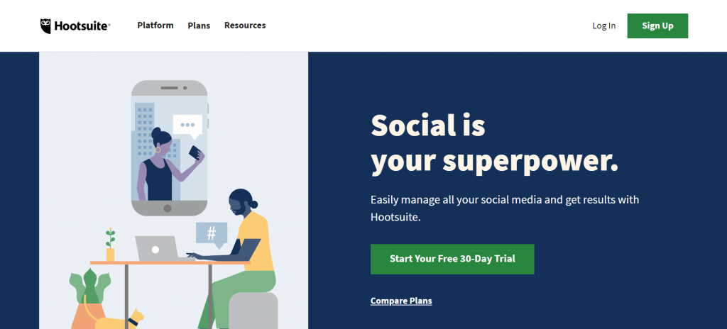 Hootsuite brand monitoring platform