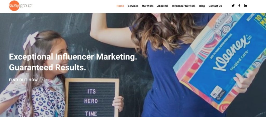sway influencer marketing agency