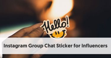 Instagram Group Chat Sticker for Influencers