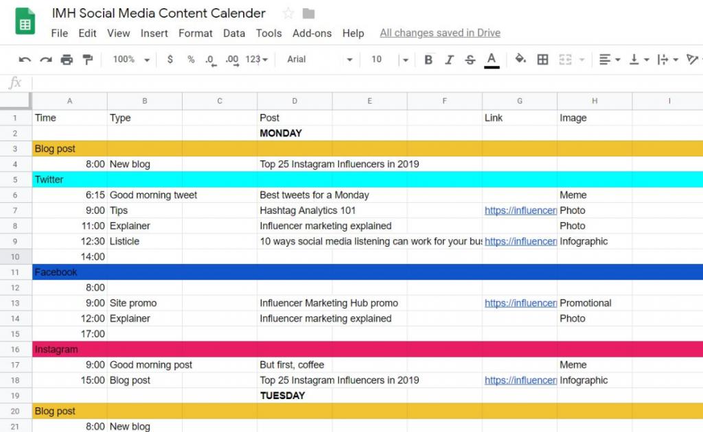 how to create a social media content calendar that. Black Bedroom Furniture Sets. Home Design Ideas