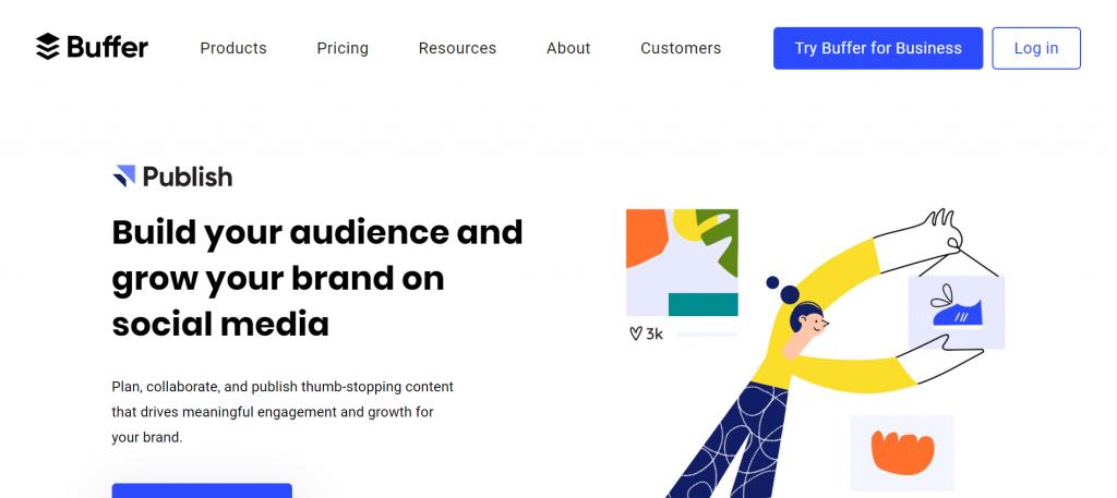 buffer - social media marketing management tool