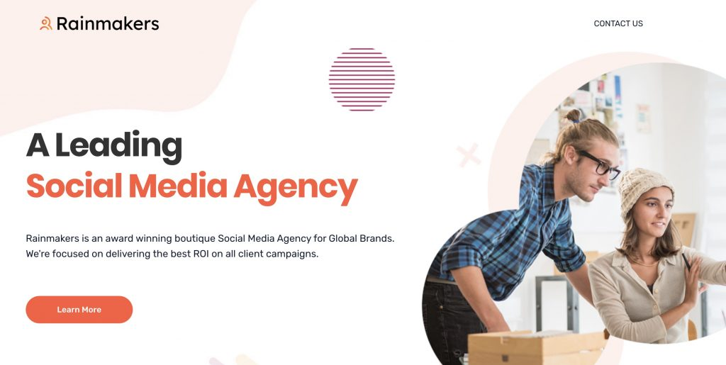 social media marketing agency rainmakers