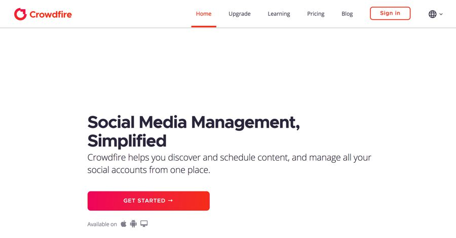 crowdfire social media management