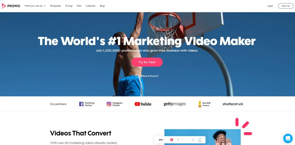 video editing software and video maker platform