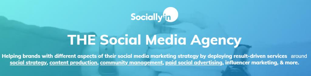 top social media agency sociallyin