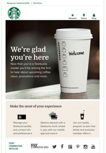 starbucks email marketing example