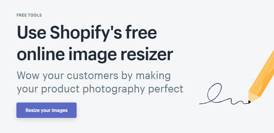 Online Image Resizer by Shopify