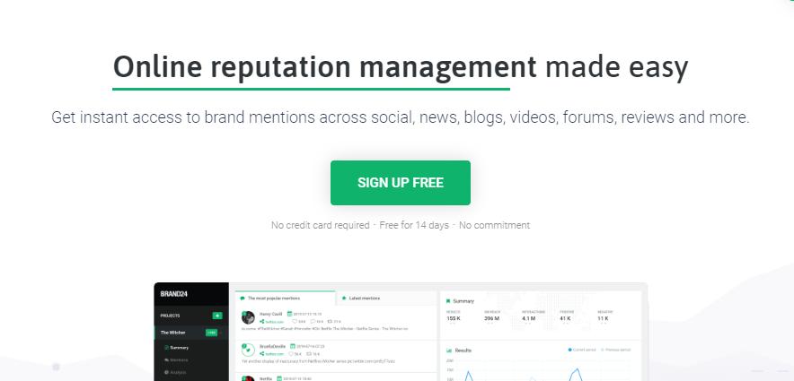 Brand24 social media platform