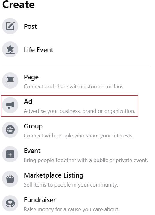 Select Ad icon