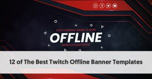 12 of The Best Twitch Offline Banner Templates