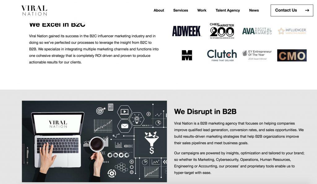 B2B Marketing Agency Viral Nation