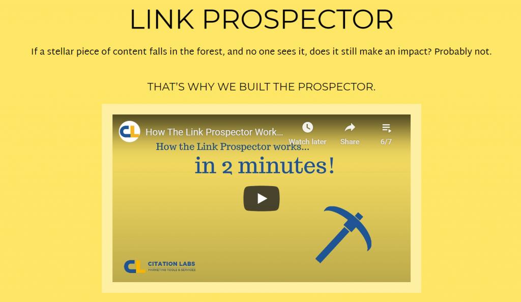 link prospector 2021