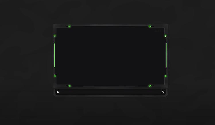 Webcam Overlay Basic Black