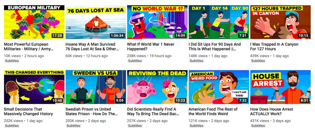 YouTube thumbnail ideas