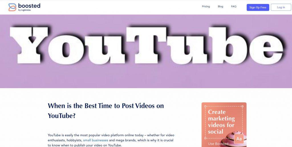 post YouTube videos