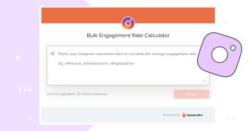 Instagram Bulk Engagement Calculator